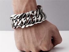 """Ship from US Rocker Biker Men Cuban Curb Punk Stainless Steel Bracelet Link 8.5"""""""