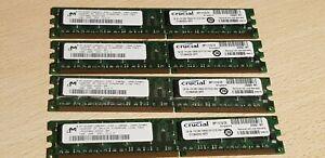 4GB Crucial CT12864Z335.16FFY (4x1GB DDR PC2700U 333MHz 184-pin DIMM) RAM Module