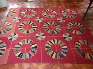 Antique Late 1800s Dresden Plate Pattern, Turkey Tracks Stitching