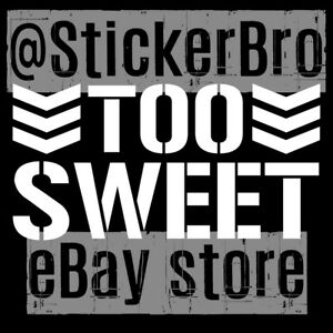Too Sweet car vinyl decal Cliq wwe njpw Bullet Club Young Bucks NWO Wolfpack