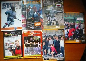 Collection of 7 x Nottingham Panthers v Sheffield Steelers ice hockey programmes