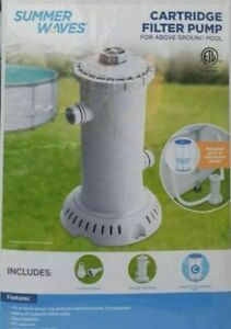 Summer Waves Cartridge Filter Pump For Above Ground Pools, 1000 GPH
