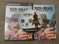 Red Dead Revolver PlayStation 2 PS2 Black Label Tested w/ Manual & Case