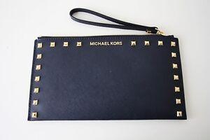 Michael Kors Bag/Wristler/Clutch Sandrine Stud Navy