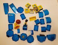 Lego Bulk Lot Dark Translucent Blue Windows Pieces Underwater Sea Submarine