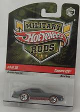 Hot Wheels Military Rods Camaro Z28 Grey Red Line Spoke 5 Wheels Protector Pack