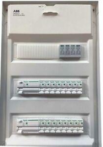 ** Unterverteilung Verteiler Sicherungskasten bestückt verdrahtet mit Tür ABB **