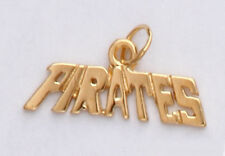 PIRATES Pittsburgh Pirates Pendant Real 24K Yellow Gold Plated Pendant Charm