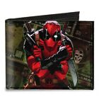 Marvel Deadpool 2012 Cover Pose with Dollar Bills Canvas Bifold Wallet NEW