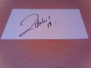 signed card of ex walsall aberdeen australia footballer david zdrilic