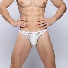 Mens Mesh Lace Underwear Thong Briefs Bikini G-String Jockstrap Shorts