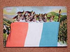 R&L Postcard: French Patriotic 1906 Babies Baby in Military Helmet