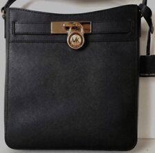 New Michael Kors Hamilton Traveler NS Messenger Shoulder Bag Leather Black