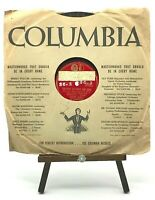BANNED FROM RADIO 78 RPM - Harry James - Columbia 36466 - Devil Sat Down & Cried