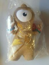 Official Olympic London 2012 Mascot Wenlock Gold Soft Toy - new with tag