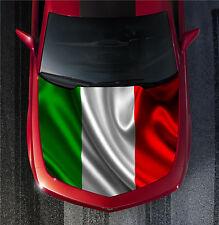 H57 ITALY ITALIAN FLAG Hood Wrap Wraps Decal Sticker Tint Vinyl Image Graphic