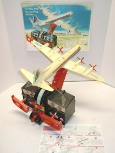 1950's Remco Battery Op Flying Fox Airplane & Console w/Paper Work. A++. WORKS.