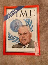 Vintage Time Magazine February 5, 1951 Warren Austin