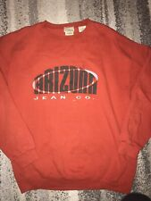 Vintage The Original Arizona Jean Company Made In Usa Rare Red Sweater Size Larg