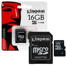 KINGSTON 16 GB MicroSD Scheda di memoria SDHC per smartphone, tablet, macchine fotografiche, navigatore satellitare,