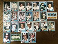 1981 BALTIMORE ORIOLES Topps COMPLETE MLB Team Set 25 Cards MURRAY PALMER STONE