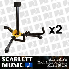 2x Hercules GS401BB Acoustic Guitar Stand GS401-BB w/Gigbag *SET OF 2 STANDS*