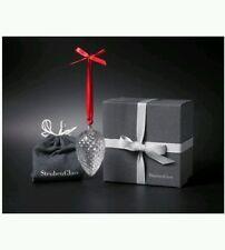 Brand New Steuben Glass Christmas Pine Cone Pinecone Ornament NIB Bag & Box