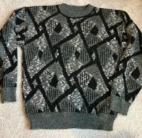 Le Tigre Mens Medium Vtg Sweater Made In USA