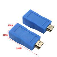 2Pcs 1080P HDMI Extender auf RJ45 über Cat 5e/6 Netzwerk LAN Ethernet Adapter XY