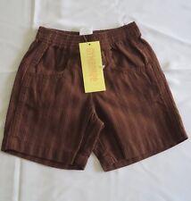 Gymboree Boy's Shorts Brown Stripe Bottoms Size 6-12 Months NWT