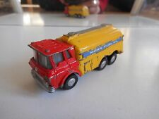 """Marx Toys Battery operated Gas Tanker Truck """"Marx Fuel Oil"""" in Red/Yellow"""