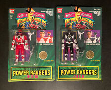 2 Brand New In Package 1994 Power Rangers Auto Morphin Red And Black Ranger NIB