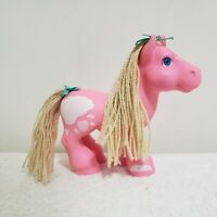 Vintage Cabbage Patch Kid Crimp N Curl Pony 1992 Hasbro Pink White Cloud Pattern