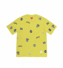 NWT Supreme Men's UNIVERSITY SHORT SLEEVE TOP TEE BRIGHT YELLOW SIZE XL