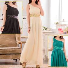 Chiffon One Shoulder Patternless Ballgowns for Women
