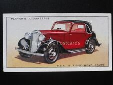 No.12 B.S.A. 10 FIXED-HEAD COUPE - Motor Cars, A Series - John Player 1936
