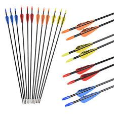 28 inch Youth Fiberglass Arrows Archery Recurve Bows Practise Shooting 12/6 pcs