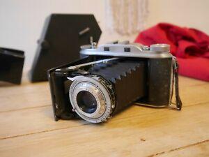 Agfa Record III Apotar 105mm rangefinder 6x9 medium format folding pocket camera