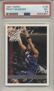 Tracy McGrady Rookie Card RC 1997-98 Topps Basketball #125 PSA 5.5 Raptors