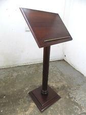 More details for large,hard wood,lectern,round,fluted,column,podium,restaurant,shop,pub,square