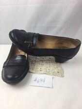 womens sz 8.5 CLARKS Artisan black leather comfort low heel dress shoes pump