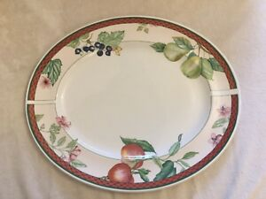 """JOHNSON BROTHERS AUTUMN GROVE 13.75"""" LARGE OVAL PLATTER/PLATE V GOOD CONDITION"""