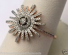 Rose Gold Snowflake Snow Flake Diamonds Fashion Right Hand Ring Band New