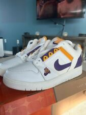 1fac13ae76 Nike Air Force 2 Size 11 LA Lakers Los Angeles Shoes Sneakers Vintage  305602-151