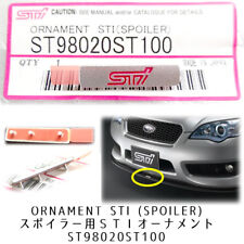 Front Spliter STI Emblem Subaru Impreza WRX STI Bumper Lip Spoiler Aluminum
