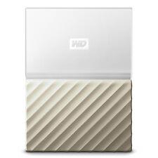 Disco duro externo 3tb Western digital My Passport Ultra Blanco/oro
