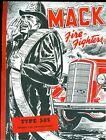 Vintage Mack Type 505, 500-Gal Pumper Illustrated Foldout Advertising brochure