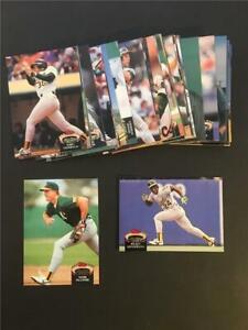 1992 Topps Stadium Club Oakland A's Athletics Team Set 37 Cards