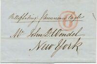 "GB 1847 Pra.-Briefhülle m roter K1 ""6"" u hs ""Bill of Lading - p. American Eagle"""