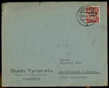 Danzig 1939 Germany to France Cover Mi724 Overprinted Deutsches Reich 83649